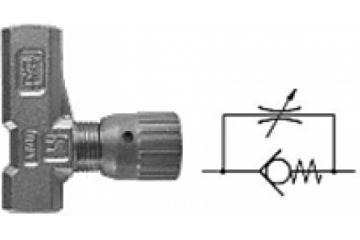Drosel unidirectional reglare cu buton