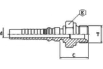 Armătură INTERLOCK filet BSP exterior