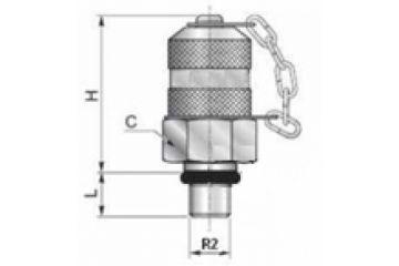 Racord punct măsurare FE o-ring, capac plastic