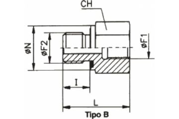 TN141-B Adaptor drept FE-FI