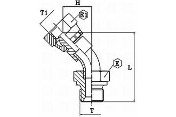 Adaptor metric DKM-AGM 45