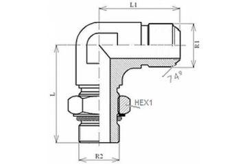 Adaptor MET-UNF L FE orientabil 0/74
