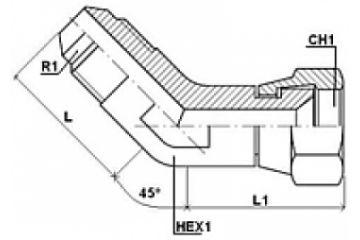 Adaptor UNF 45 FE-FI olandeză