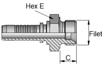 Armătură filet metric exterior