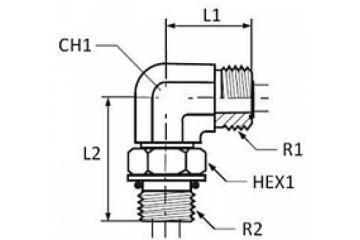 Adaptor BSP-ORS L FE orientabil 0/0
