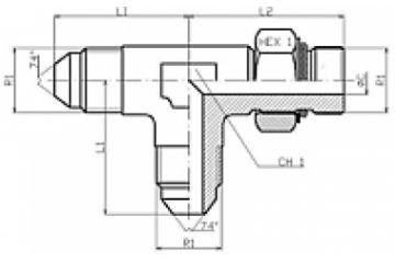 Adaptor UNF T FE BSP orientabil lateral 74/74/0