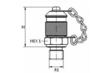 Racord punct măsurare BSP FE o-ring, capac metal