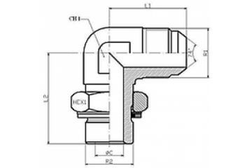 Adaptor BSP-UNF L FE orientabil 0/74