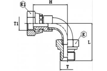 Adaptor metric DKM-AGM 90