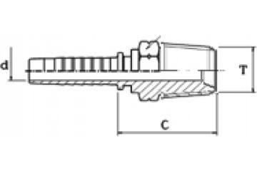 Armătură filet BSP exterior conic
