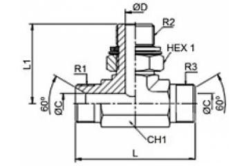 Adaptor BSP T FE orientabil mijloc