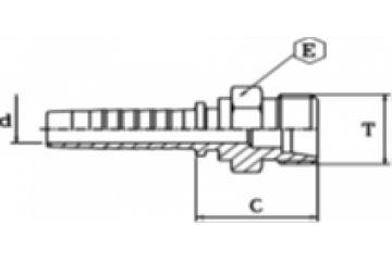 Armătură filet metric exterior serie grea