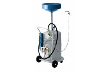 Recuperator ulei uzat cu unitate aspirare si pompă pneumatică