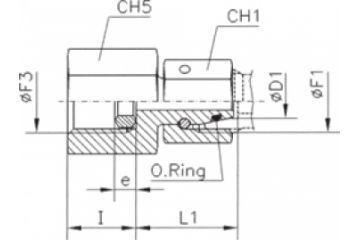 TN403 Adaptor manometru cu olandeză fixă