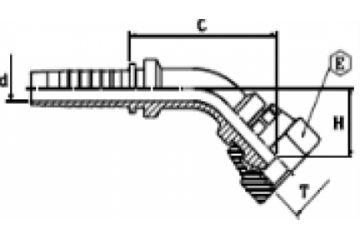Armătură filet BSP 45