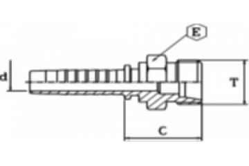 Armătură filet metric exterior serie usoară