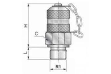 Racord punct măsurare BSP FE o-ring, capac plastic