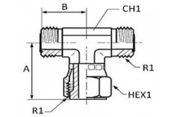 Adaptor ORFS T olandeză mijloc