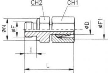TN126-SM Adaptor drept cu olandeză fixă