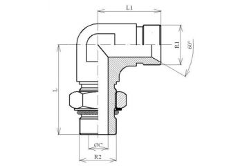 Adaptor BSP L FE orientabil 0/60