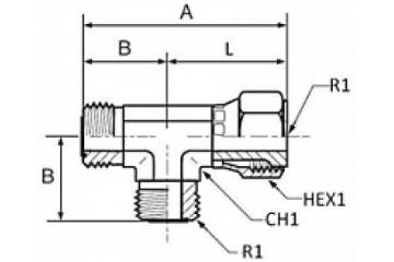 Adaptor ORFS T olandeză lateral