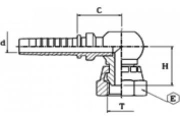 Armătură filet BSP 90 compact