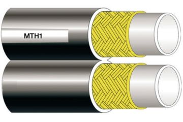 Furtun termoplast geaman, cu insertie metalică MT1 TWIN